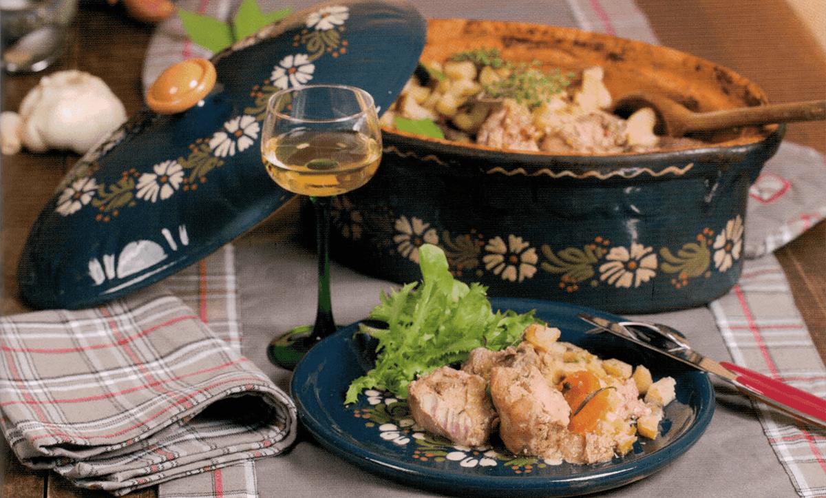 la recette du baeckeoffe avec la terrine de la poterie friedmann
