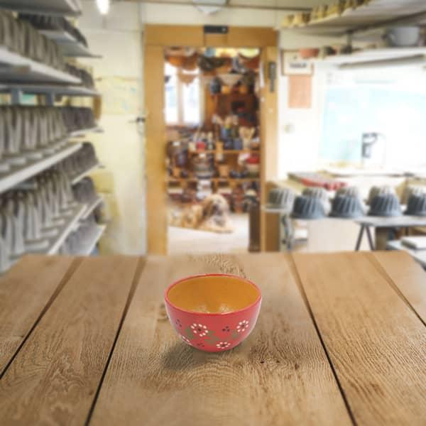 bol en terre cuite poterie friedmann, fabriquée avec de la terre naturelle de Soufflenheim