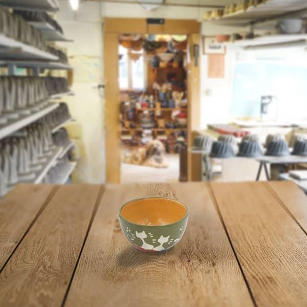 bol en terre cuite poterie friedmann, famille de potiers depuis 1802 à Soufflenheim, Alsace
