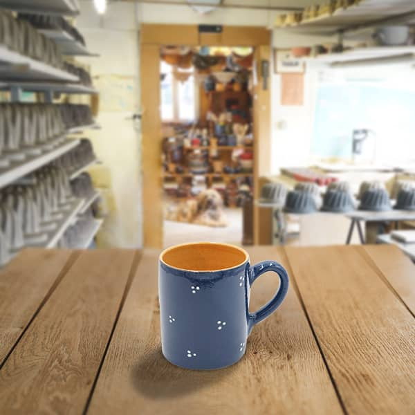 chope demi litre en terre cuite poterie friedmann, fabrication artisanale