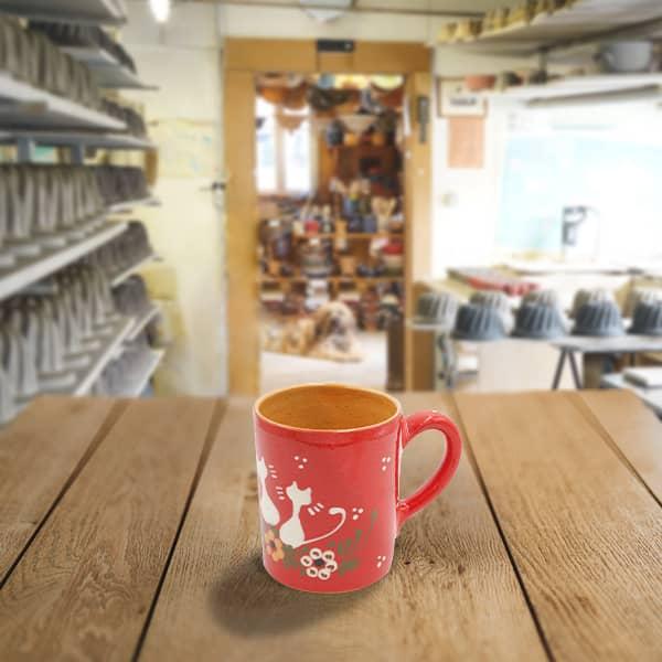 chope demi litre en terre cuite poterie friedmann, savoir faire familial et artisanal