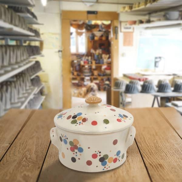cocotte à pain en terre cuite poterie friedmann, fabriqué avec la terre naturelle de soufflenheim, Alsace