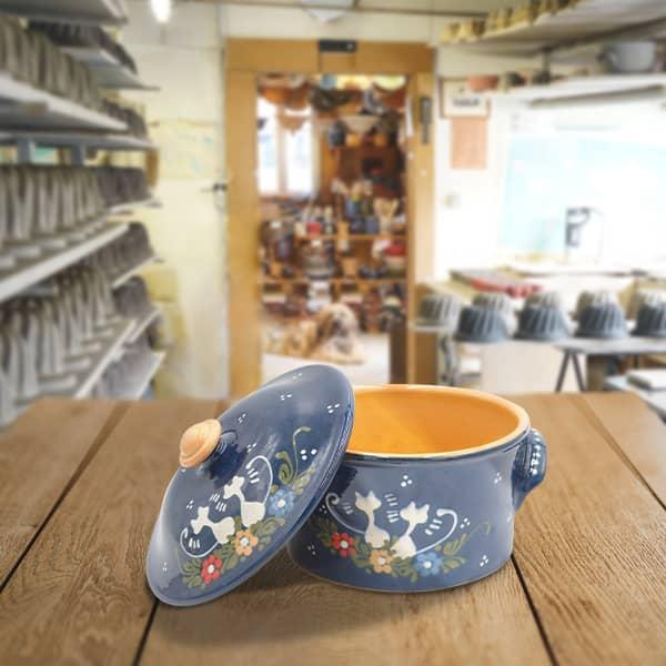 cocotte à pain en terre cuite poterie friedmann, fabriquée à partir de la terre naturelle de soufflenheim