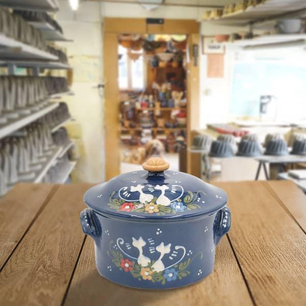 cocotte à pain en terre cuite poterie friedmann, fabrication artisanale et alsacienne