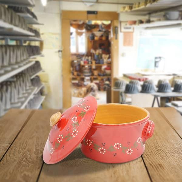 cocotte à pain en terre cuite poterie friedmann, savoir faire familial et alsacien