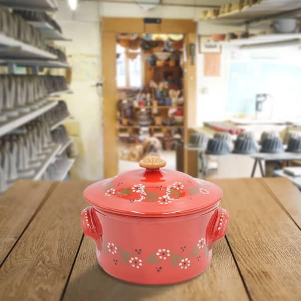 cocotte à pain en terre cuite poterie friedmann, fabrication artisanale