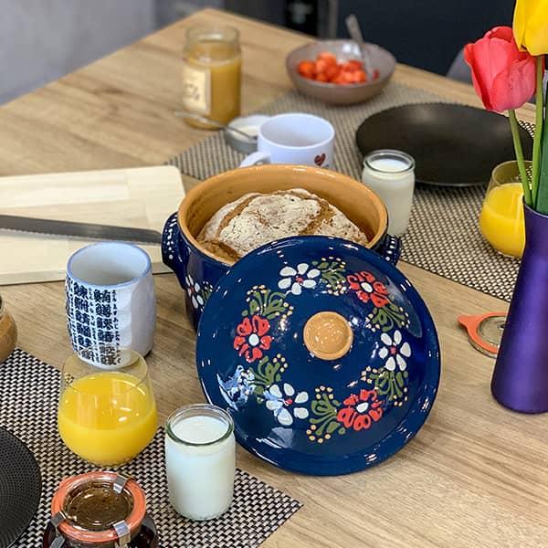 cocotte à pain terre cuite recette poterie friedmann à Soufflenheim en Alsace