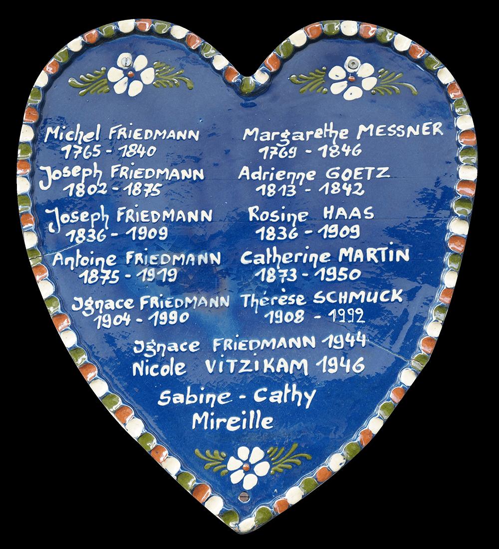 arbre généalogique de la poterie Friedmann depuis 1802