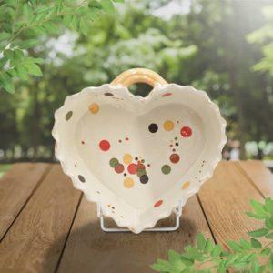 cœur valentin en terre cuite poterie friedmann, savoir faire et fabrication alsacienne