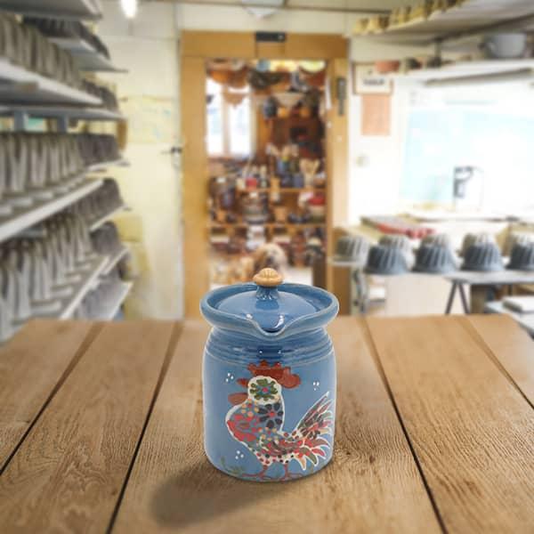crinoline en terre cuite poterie friedmann, fabrication avec la terre naturelle de soufflenheim, Alsace