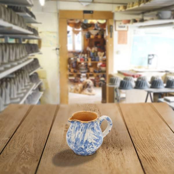 cruche bombée en terre cuite poterie friedmann, famille de potiers depuis 1802 à Soufflenheim, Alsace