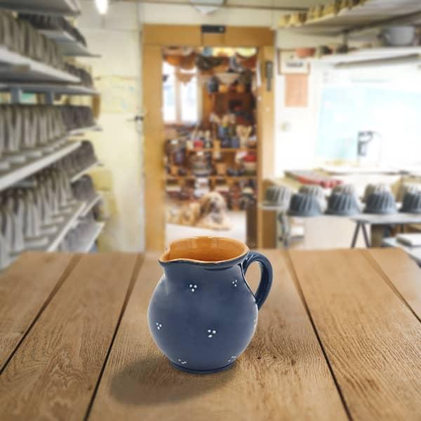 cruche bombée en terre cuite poterie friedmann, fabrication artisanale en Alsace