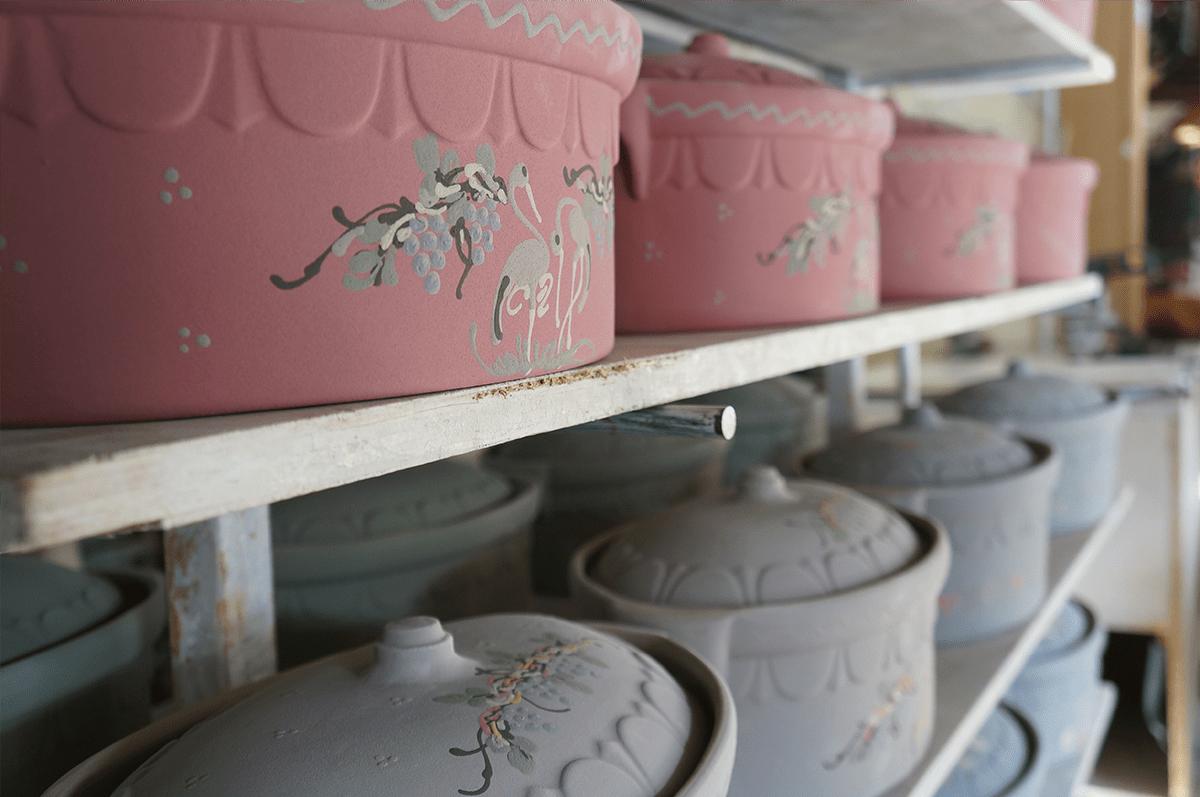 séchage des moules dans la poterie friedmann