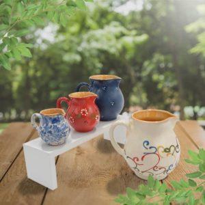 lot cruches bombées en terre cuite poterie friedmann, savoir faire artisanal et familial