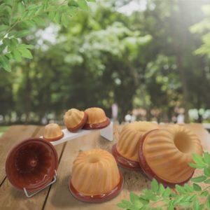 lot moules à kougelhopfs kouglopf kouglof en terre cuite uni poterie friedmann, fabriqués à partir de la terre naturelle de soufflenheim, Alsace