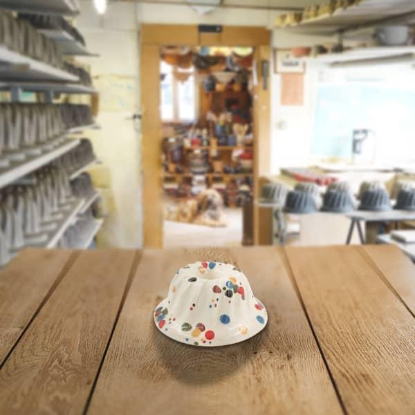 moule à kougelhopf, kouglopf, kouglof décoré en terre cuite poterie friedmann, savoir faire artisanal et familial
