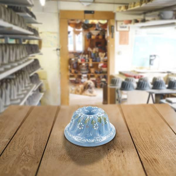 moule à kougelhopf, kouglopf, kouglof décoré en terre cuite poterie friedmann, fabriqué à partir de la terre naturelle de soufflenheim