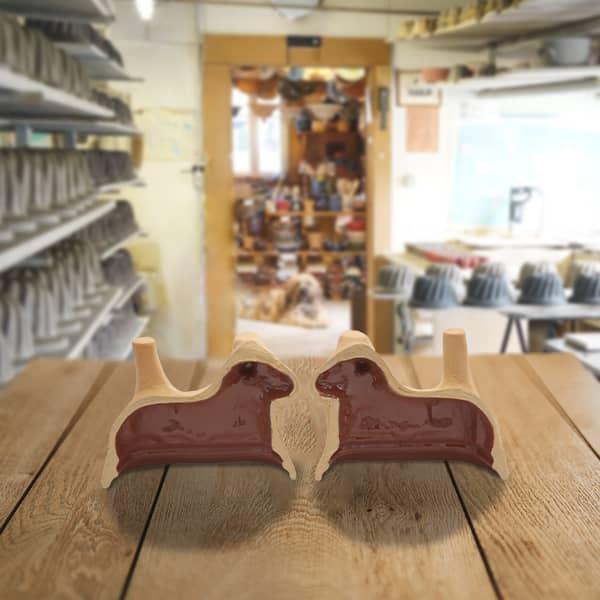 moule mouton en terre cuite, moule à lammele, agneau pascal poterie friedmann, famille de potiers depuis 1802 à Soufflenheim, Alsace