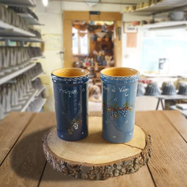 lot briques à vin en terre cuite poterie friedmann, savoir faire et fabrication artisanale
