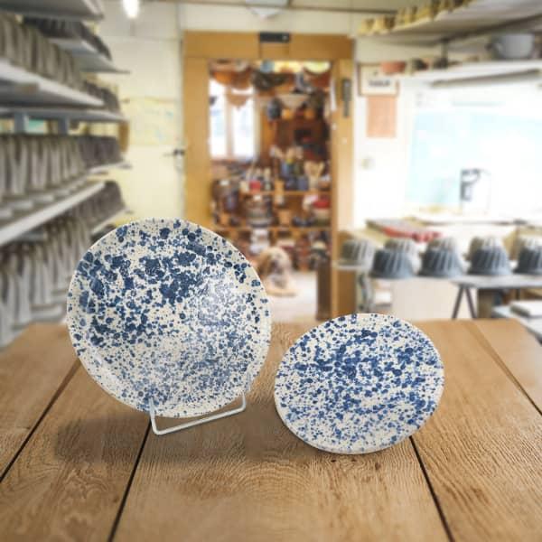 lot assiettes en terre cuite poterie friedmann, savoir faire familial et alsacien