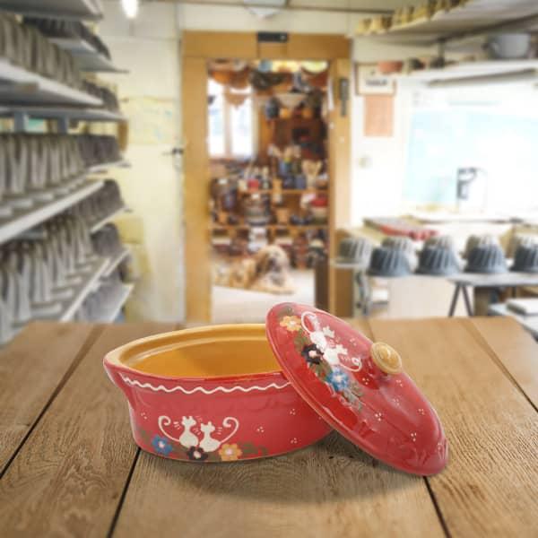 terrine ovale en terre cuite terrine à baeckeoffe poterie friedmann, fabrication artisanale