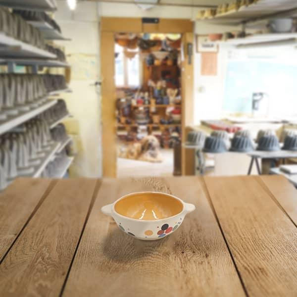ecuelle en terre cuite poterie friedmann, fabriqué à partir de la terre naturelle de soufflenheim
