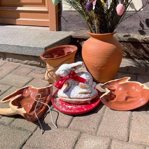 Forme lapin en terre cuite brioche lapin poterie friedmann terre naturelle de soufflenheim