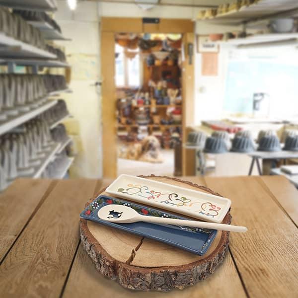 lot lèches cuillères en terre cuite poterie friedmann, fabrication et savoir faire artisanaux