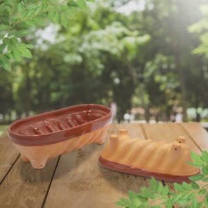 lot moules à cake uni, moule à langhopf en terre cuite poterie friedmann, fabriqués à partir de la terre naturelle de soufflenheim