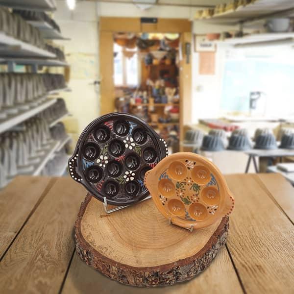 lot plats escargot poterie friedmann savoir faire artisanal à Soufflenheim