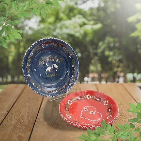 lot plats à légumes poterie friedmann, fabriqués à partir de la terre naturelle de soufflenheim