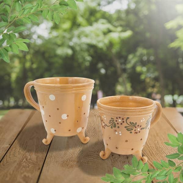 lot pots fromage terre cuite décorés poterie friedmann, savoir faire familial depuis 1802 à Soufflenheim en Alsace