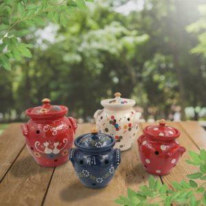 lot pots oignons poterie friedmann terre naturelle de soufflenheim, Alsace