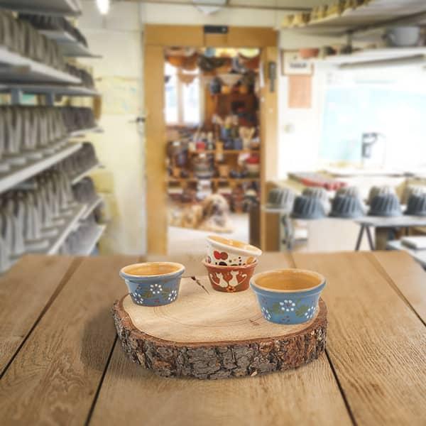 lot ramequins en terre cuite poterie friedmann, famille de potiers depuis 1802 à Soufflenheim en Alsace