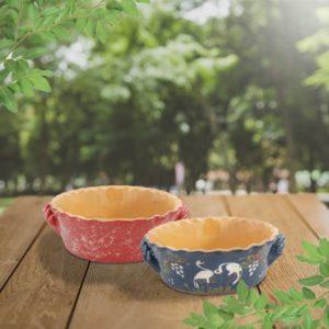 lot soufflés ondulés terre cuite poterie friedmann terre naturelle de soufflenheim
