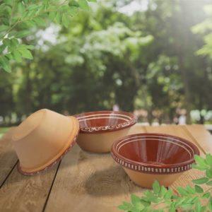 lot terrines à pâte unies poterie friedmann terre naturelle de souflenheim, Alsace