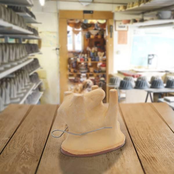 forme lapin en terre cuite poterie friedmann, fabrication artisanale