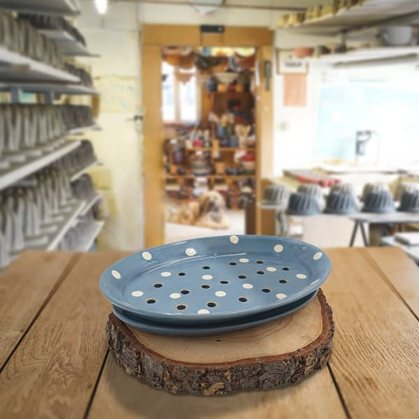 plat asperge en terre cuite poterie friedmann à Soufflenheim
