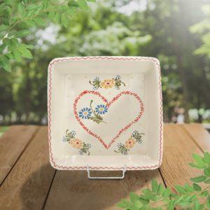 plat carré en terre cuite poterie friedmann savoir faire artisanal