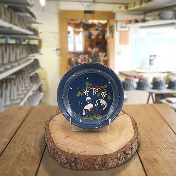 plat creux en terre cuite poterie friedmann terre naturelle de soufflenheim, Alsace