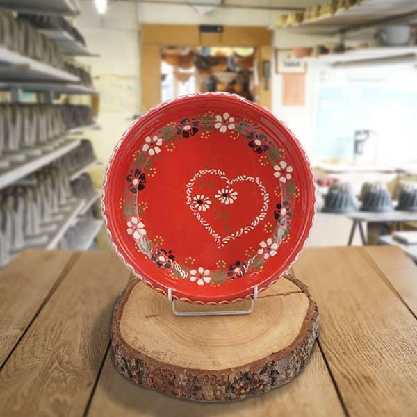 plat à légumes en terre cuite poterie friedmann, savoir faire artisanal