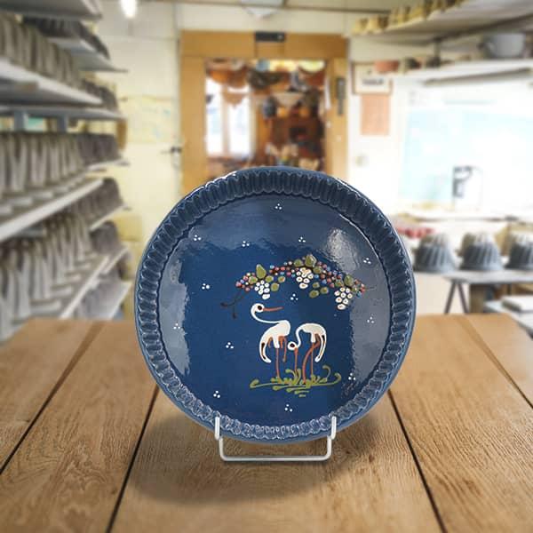 plat moule à tarte terre cuite poterie friedmann, famille de potiers depuis 1802 à Soufflenheim en Alsace
