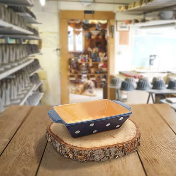 plat rectangulaire en terre cuite poterie friedmann terre naturelle de soufflenheim