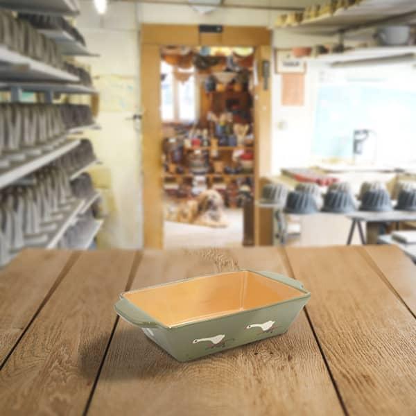 plat rectangulaire en terre cuite poterie friedmann savoir faire artisanal Soufflenheim Alsace