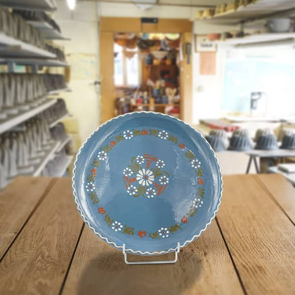 plat à tarte en terre cuite poterie friedmann terre naturelle de soufflenheim