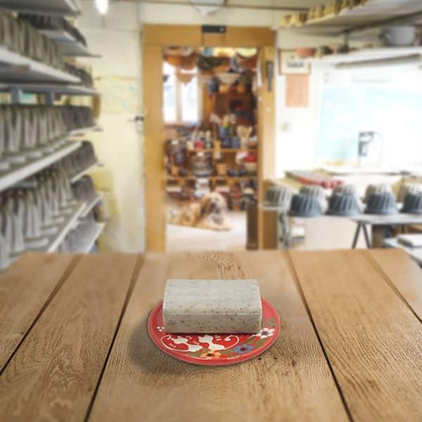 porte savon en terre cuite poterie friedmann, famille de potiers depuis 1802 à Soufflenheim