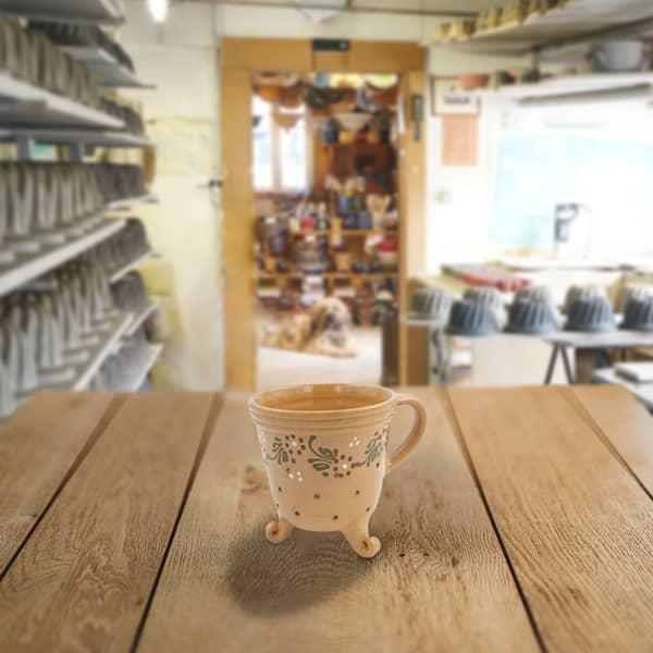 pot fromage terre cuite décoré poterie friedmann savoir faire artisanal