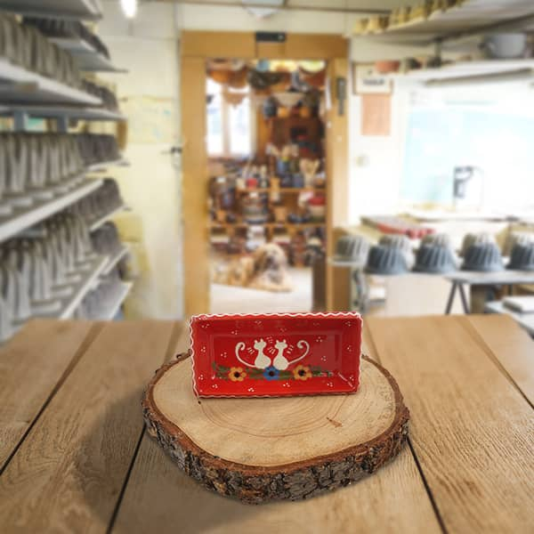 ravier rectangulaire terre cuite poterie friedmann terre naturelle de soufflenheim
