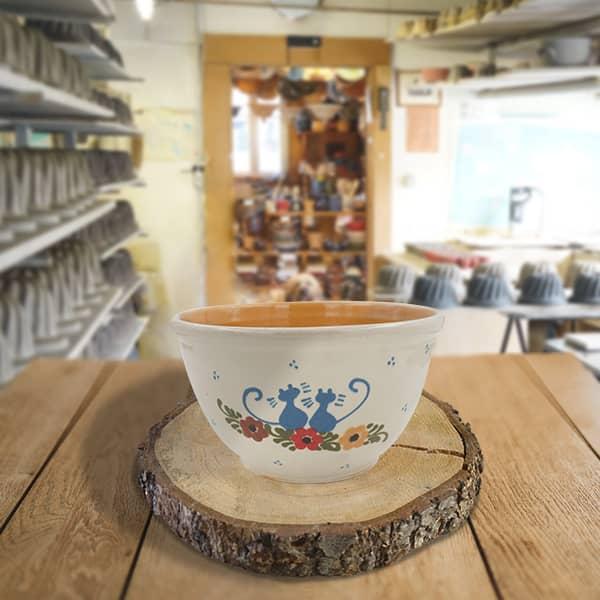saladier bombe terre cuite poterie friedmann, famille de potiers depuis 1802