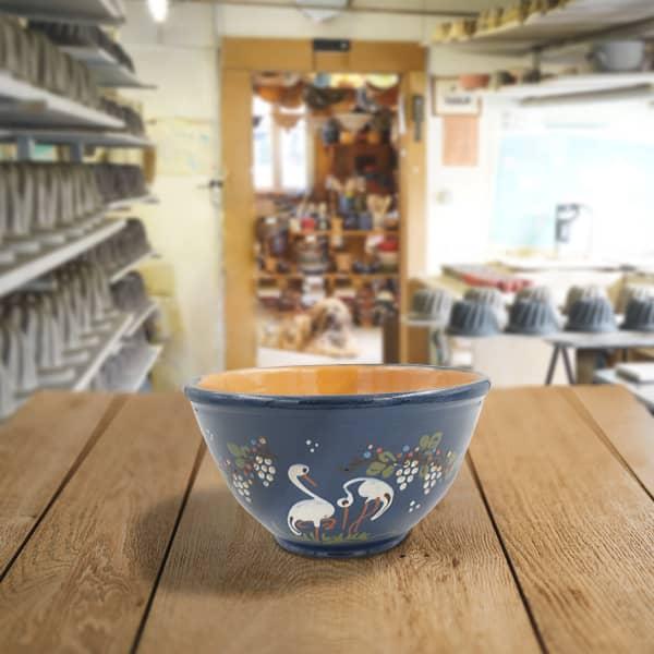 saladier bombé en terre cuite poterie friedmann terre naturelle de soufflenheim